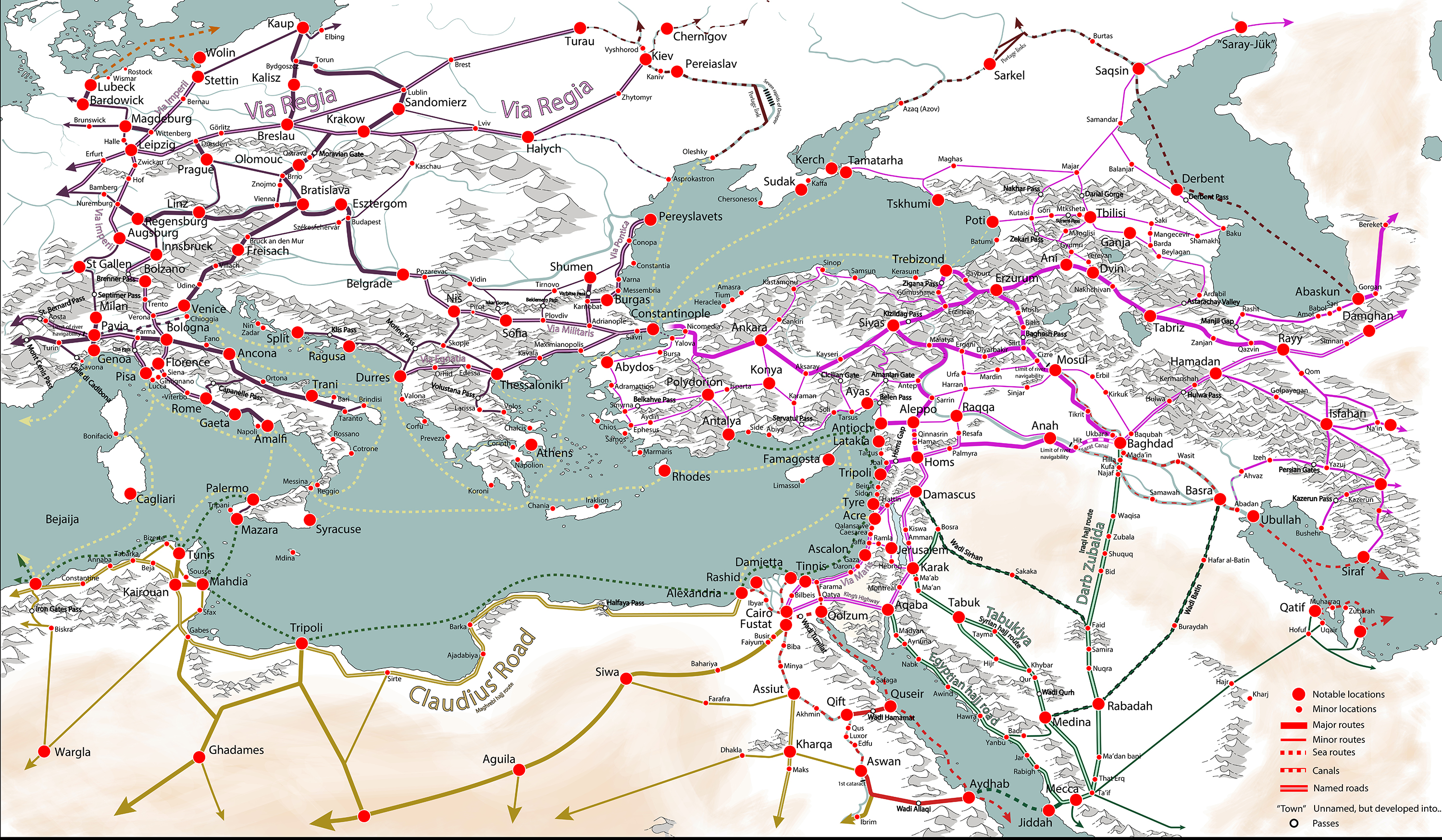 Trade Routes of the Mediterranean